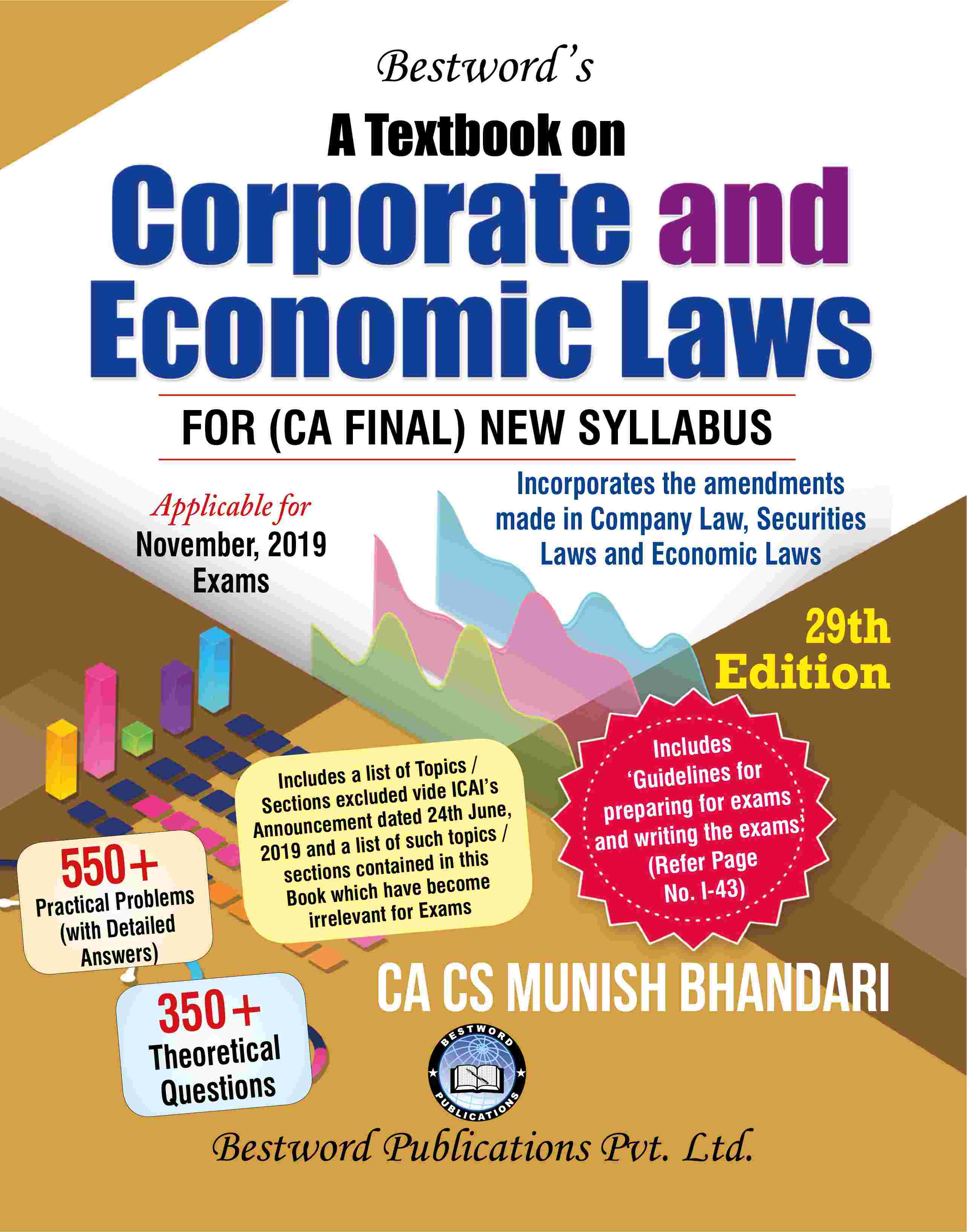 bestword's-a-textbook-on-corporate-and-economic-laws---by-ca-cs-munish-bhandari---29th-edition---for-ca-(final)-november,-2019-exams-(new-syllabus)