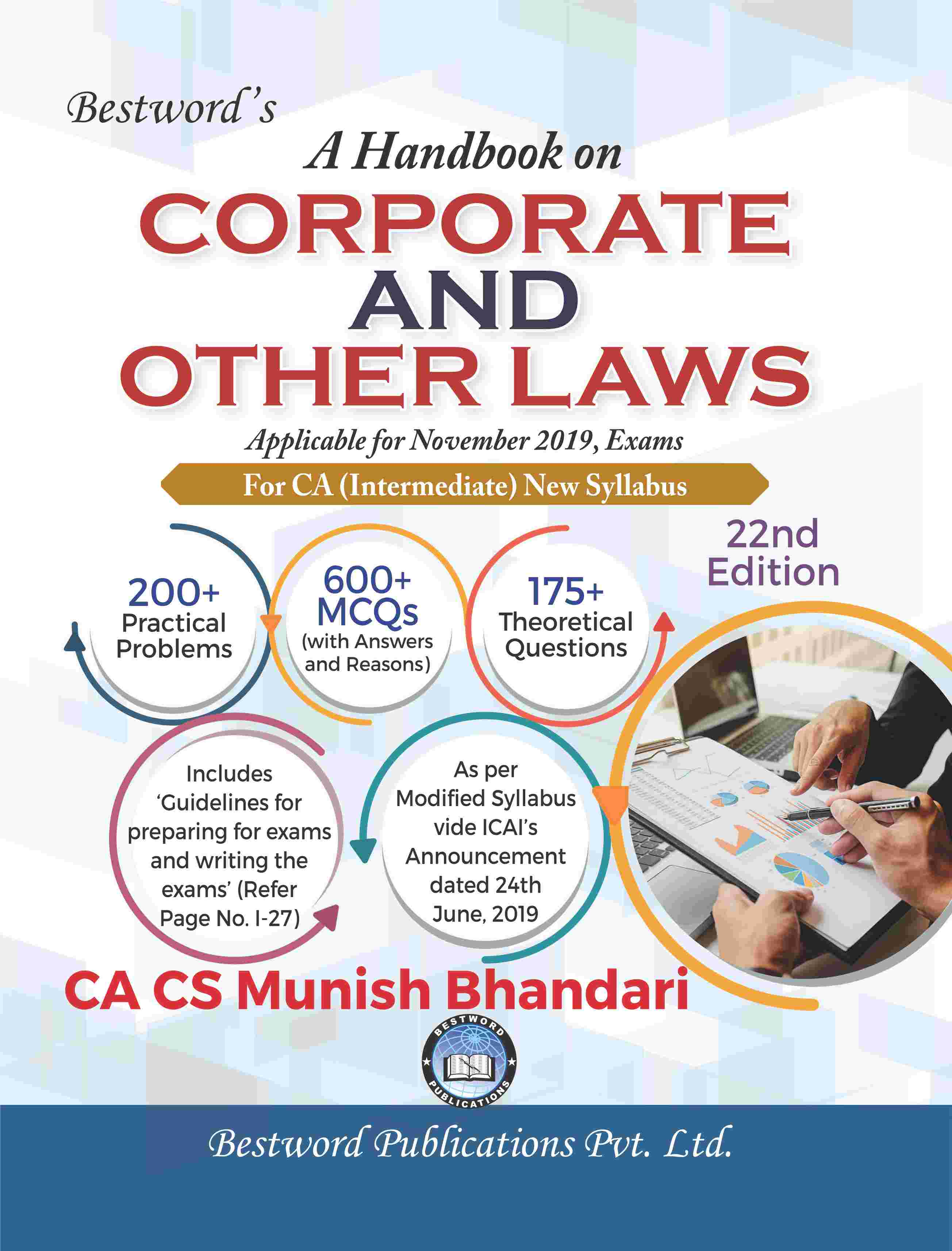 bestword's-a-handbook-on-corporate-and-other-laws---by-ca-cs-munish-bhandari---22nd-edition---for-ca-(intermediate)-november,-2019-exams-(new-syllabus)
