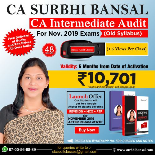 pen-drive-classes-for-ca-inter-audit---by-ca-surbhi-bansal---for-nov.-2019-exams----old-syllabus