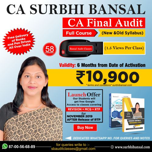pen-drive-classes-for-ca-final-audit-–------by-ca-surbhi-bansal---for-nov.-2019-exams-(new-&-old-syllabus)