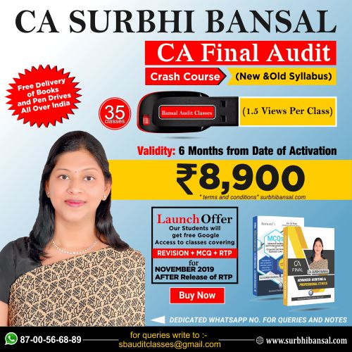 pen-drive-classes-for-ca-final-audit-crash-course-–------by-ca-surbhi-bansal---for-nov.-2019-exams-(new-&-old-syllabus)