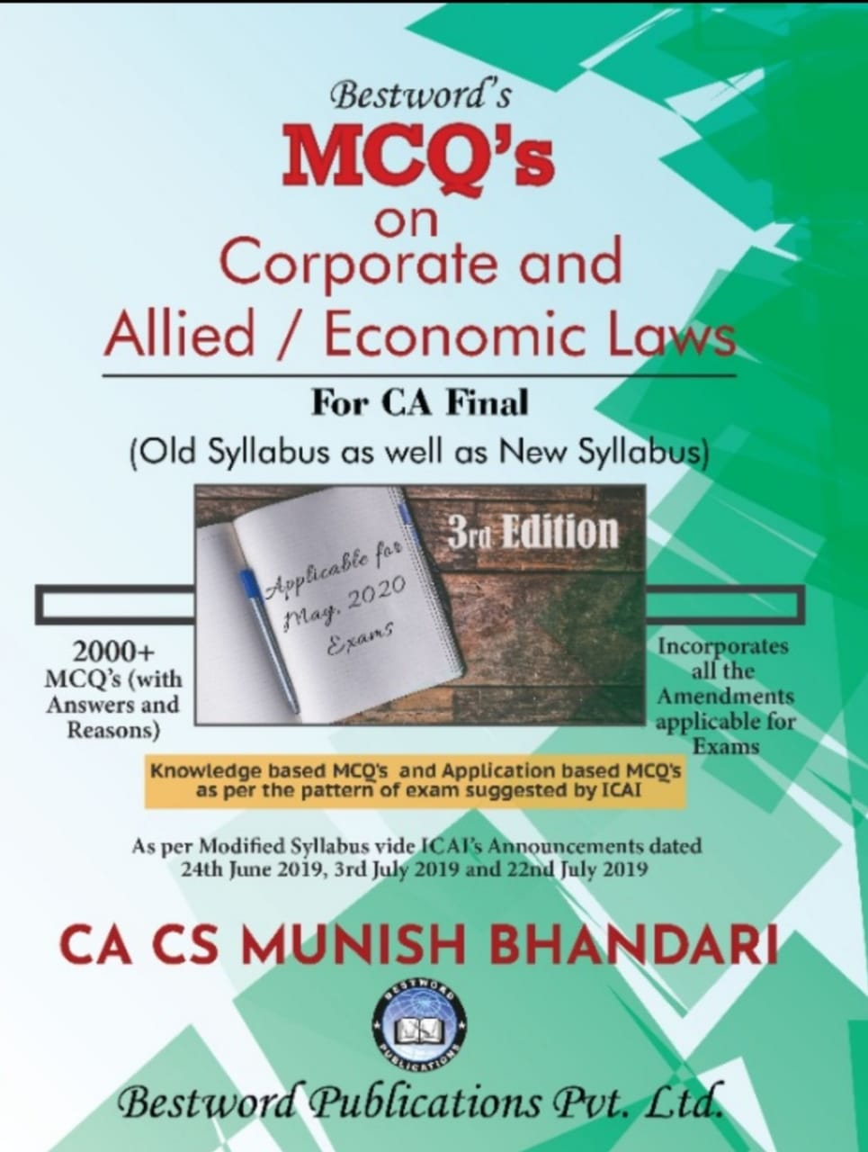 bestword's-mcqs-on-corporate-and-allied-laws-and-economic-laws---by-ca-cs-munish-bhandari---3rd-edition---for-ca-(final)-may,-2020-exams-(old-as-well-as-new-syllabus)