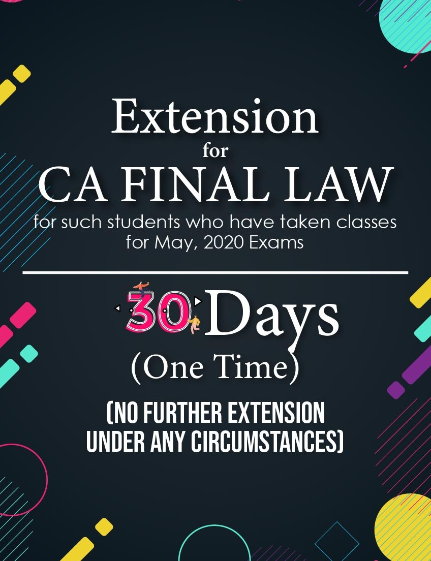 extension-of-ca-final-law-lectures-for-30-days-(for-may-2020-exams)