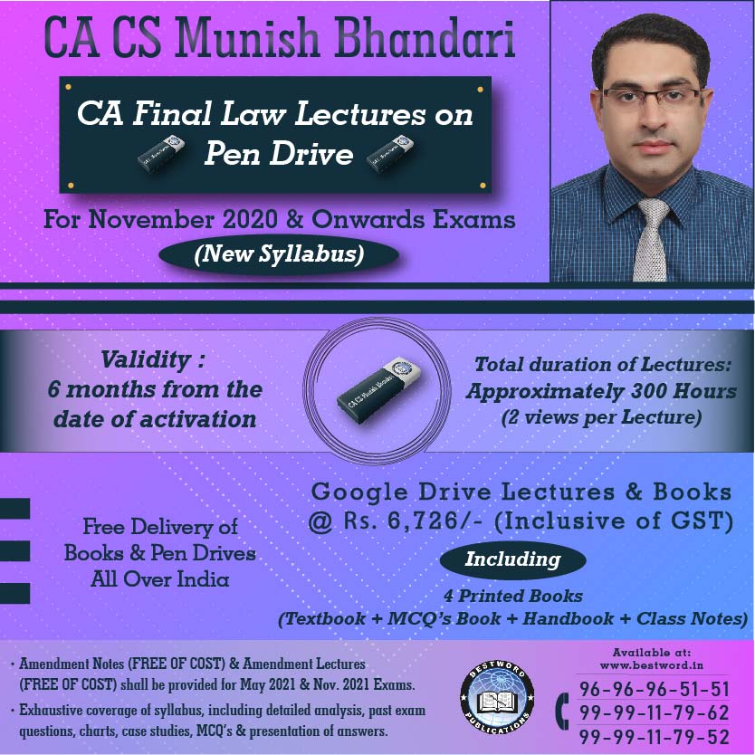 pen-drive-lectures-for-ca-final-law-–-by-ca-cs-munish-bhandari---for-november,-2020-exams-(corporate-and-economic-laws---new-syllabus)