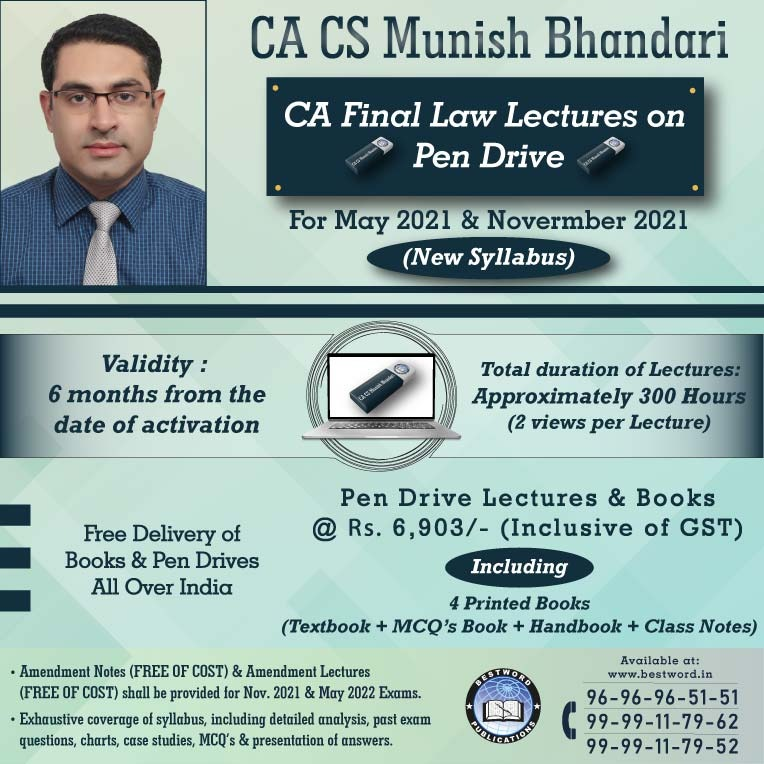 pen-drive-lectures-for-ca-final-law-–-by-ca-cs-munish-bhandari---for-may-2021-&-nov.-21-exams-(corporate-and-economic-laws---new-syllabus)